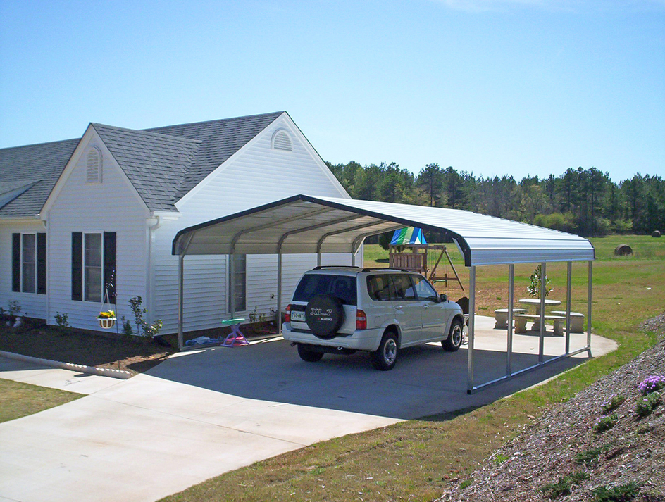house with different color detached garage ideas - Coast to Coast Carports