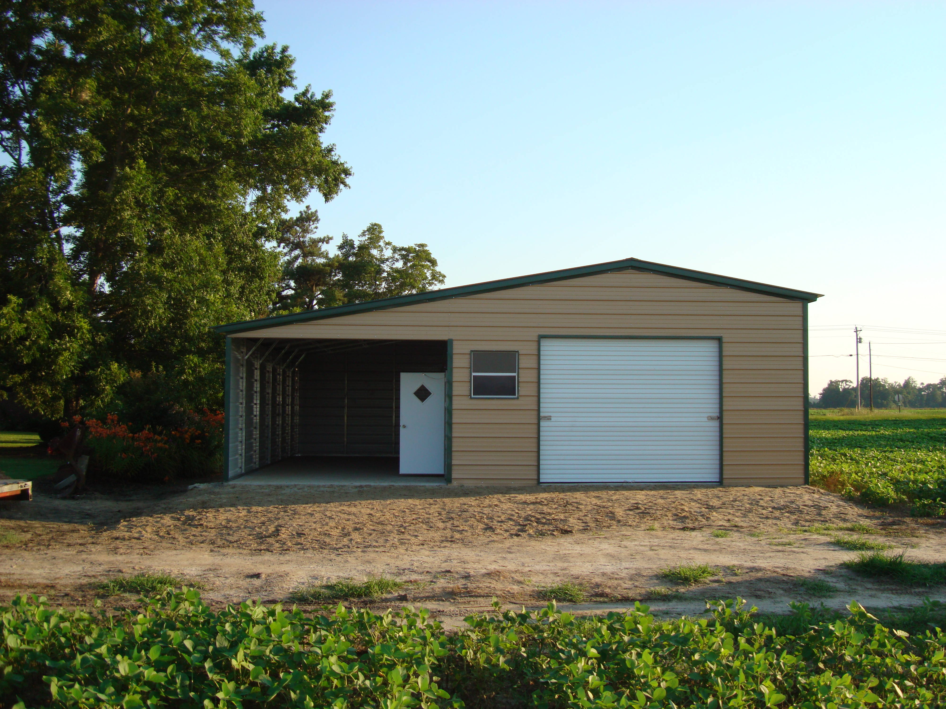 1 Car Garage With Lean To Carport : Southern garage packages