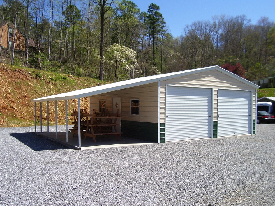 Metal garages steel garage prices packages georgia Garage carports