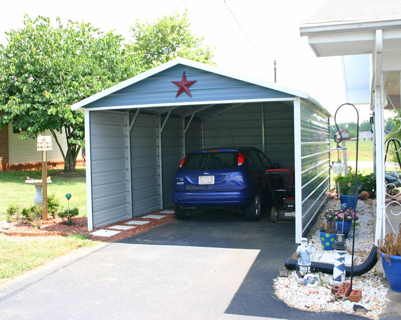 West coast carport packages for Single garage with carport