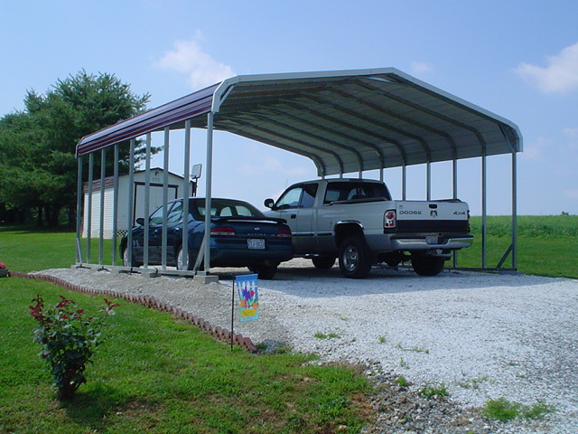 2 Car Metal Carport Flat : West coast carport packages