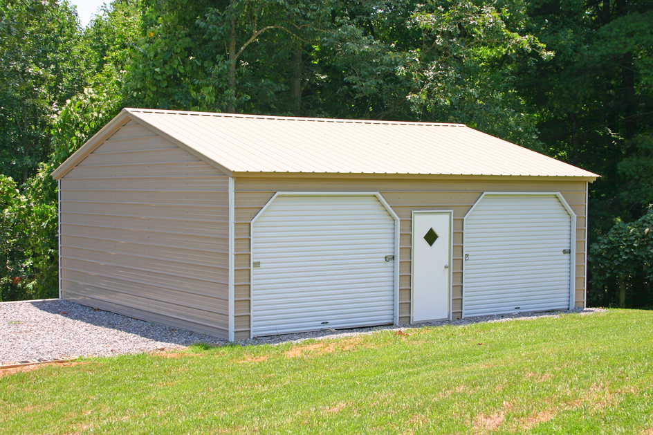 Carport metal carports and garages for Two car garage shed