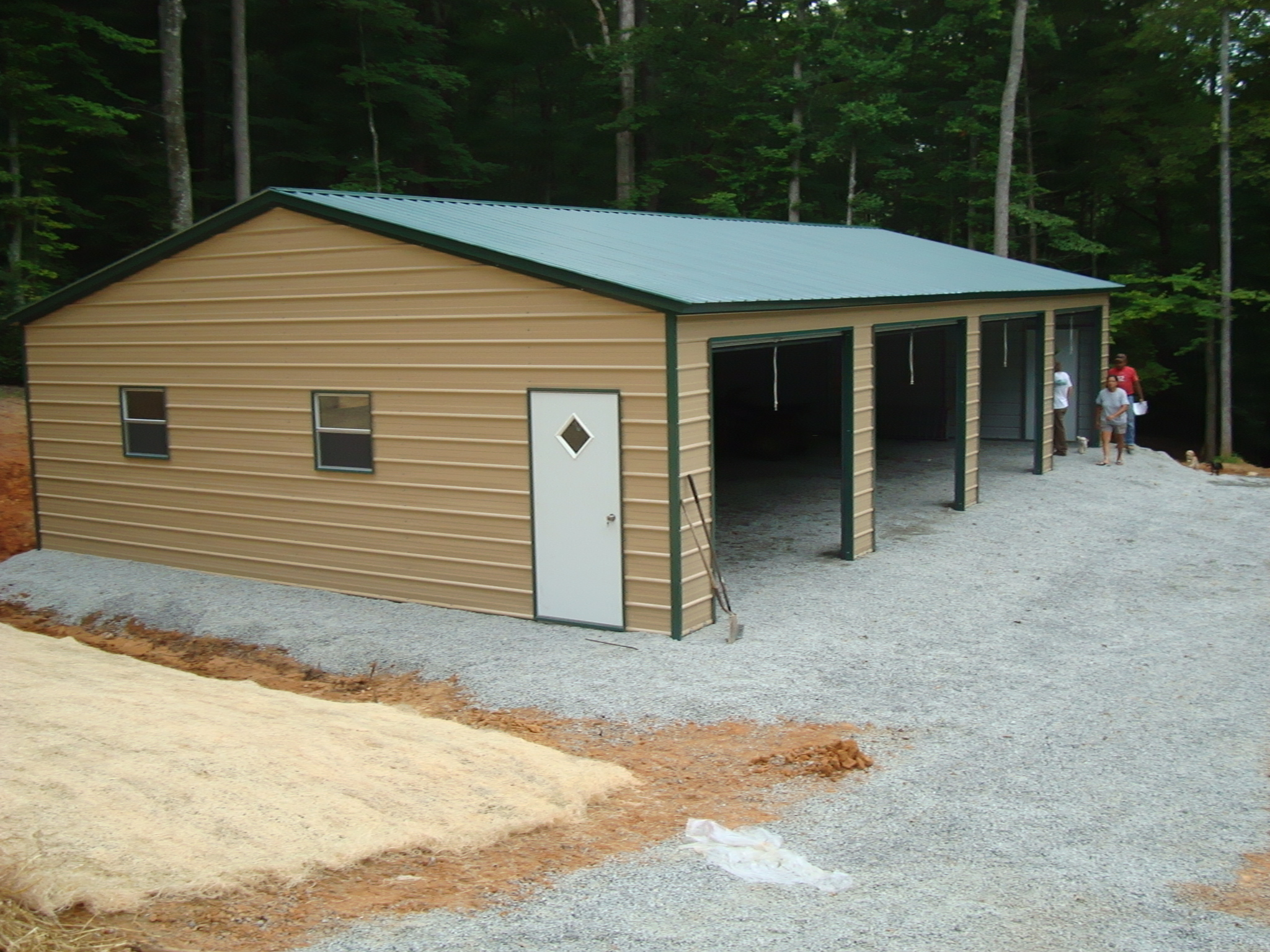 Southern garage packages for 2 car pole garage