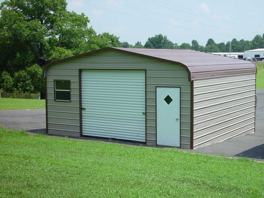 Metal garages steel garages georgia ga Garage carports