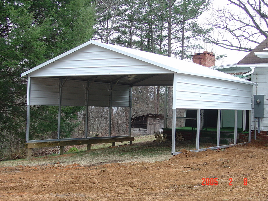 Metal Carport Landscaping : Carport metal portable carports