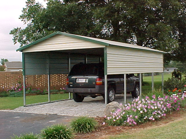 Portable Aluminum Carports Off Side Of House : Prefab carports garages