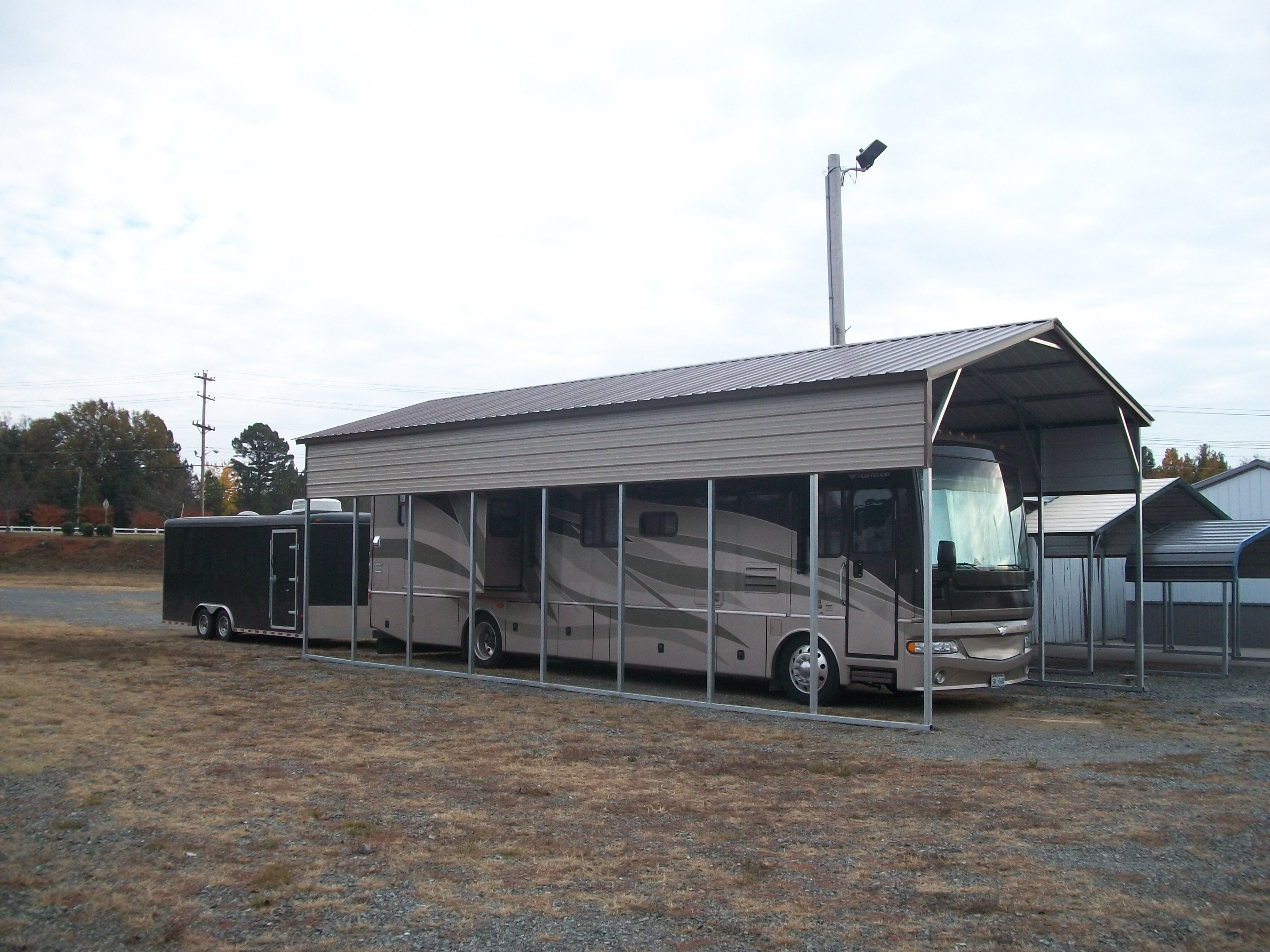 Southern rv cover packages for Rv buildings garages