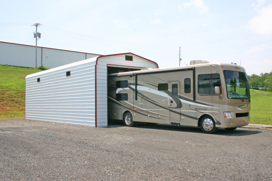25 popular camper trailer with garage for Rv shed ideas