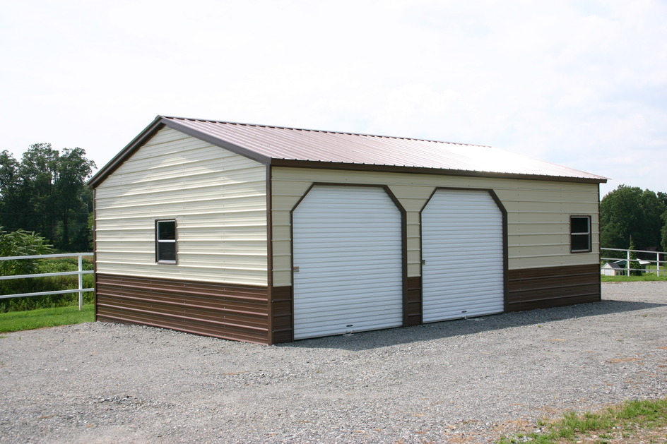 Metal garages steel garages garage prices packages for Garage building packages