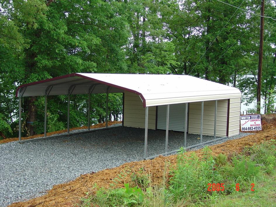 Carport carports with storage for Carport with storage room