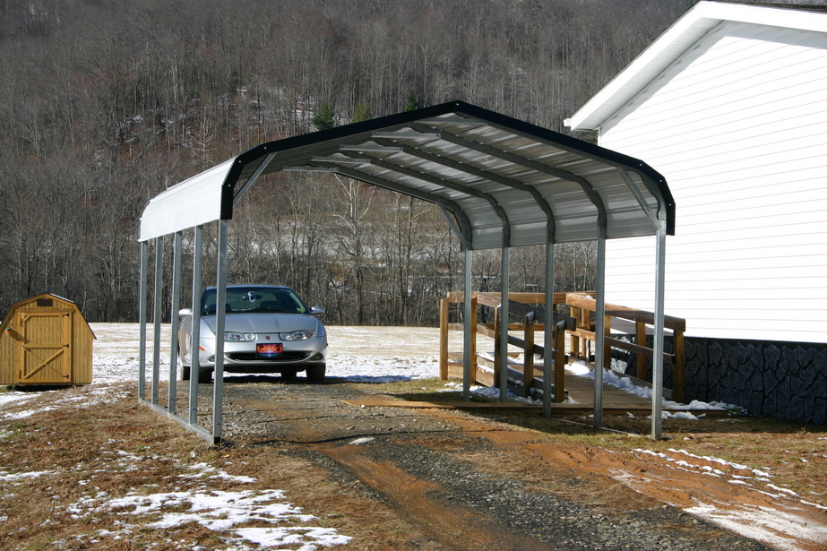 Single Steel Carports : Single carports one car